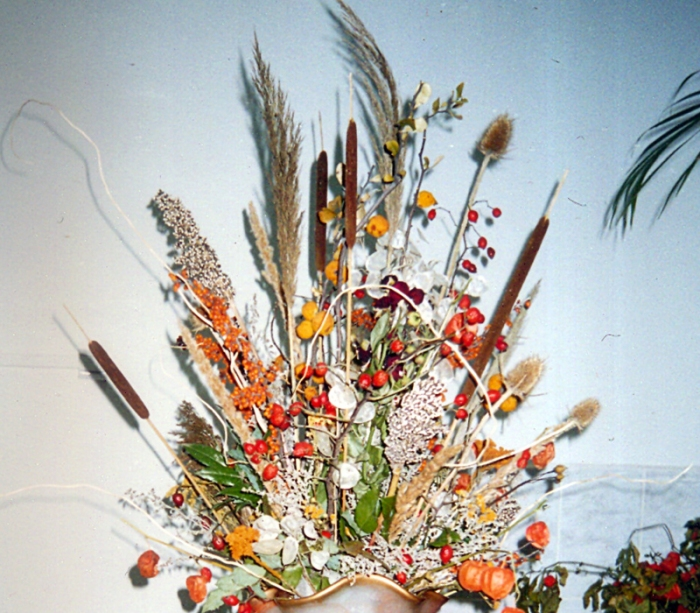 Aranjament Flori Uscate Papura Aranjament Floral